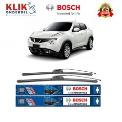 "Bosch Sepasang Wiper Frameless New Clear Advantage Mobil Nissan Juke F15 22"" & 14"" - 2 Pcs/Set"