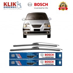 "Bosch Sepasang Wiper Frameless New Clear Advantage Mobil Hyundai Atoz Prime 20"" & 16"" - 2 Pcs/Set"