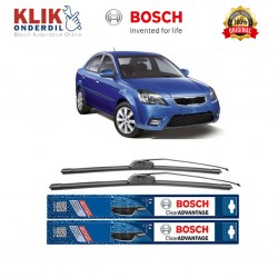 "Bosch Sepasang Wiper Depan Frameless New Clear Advantage Mobil KIA Pride New (22"" & 16"") - 2 pcs/set"