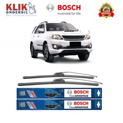 "Bosch Sepasang Wiper Frameless New Clear Advantage Mobil Toyota Fortuner 21"" & 19"" - 2 Pcs/Set"