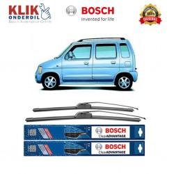 "Bosch Sepasang Wiper Frameless New Clear Advantage Mobil Suzuki Karimun 20"" & 18"" - 2Buah/Set"