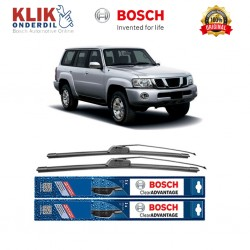 "Bosch Sepasang Wiper Frameless New Clear Advantage Mobil Nissan Patrol GR 20"" & 20"" - 2 Pcs/Set"