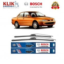 "Bosch Sepasang Wiper Frameless New Clear Advantage Mobil Proton Wira 20"" & 17"" - 2 Pcs/Set"
