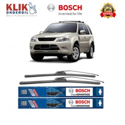 "Bosch Sepasang Wiper Frameless New Clear Advantage Mobil Ford Escape 20"" & 17"" - 2Buah/Set"