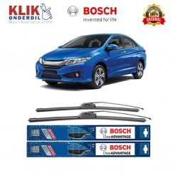 "Bosch Sepasang Wiper Frameless New Clear Advantage Mobil Honda City New 26"" & 14"" - 2Buah/Set"