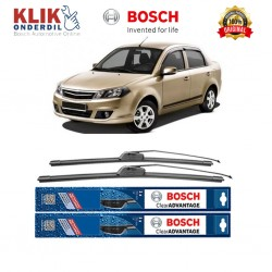"Bosch Sepasang Wiper Frameless New Clear Advantage Mobil Proton Saga 22"" & 17"" - 2 Pcs/Set"