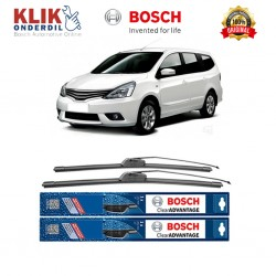 "Bosch Sepasang Wiper Frameless New Clear Advantage Mobil Nissan Grand Livina L10 (24"" & 14"" ) - 2 pcs/set"