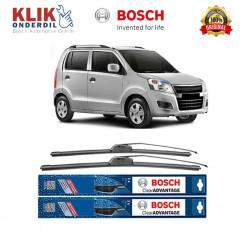 Bosch Sepasang Wiper Frameless New Clear Advantage Mobil Suzuki Karimun Wagon R..