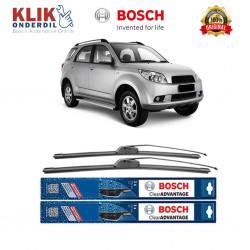 "Bosch Sepasang Wiper Frameless New Clear Advantage Mobil Daihatsu Terios (21"" & 18"" ) - 2 pcs/set"