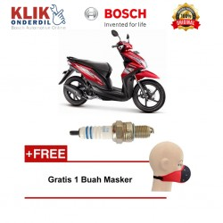 Bosch Busi Sepeda Motor Honda Beat UR5DC (2 Pcs) 0242045005 - Free Masker