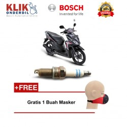 Bosch Busi Sepeda Motor Honda Vario 110 UHR3CC - Gratis Masker