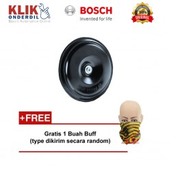 Bosch Klakson Motor Piccolo Disc 12V Black Single - Free Buff