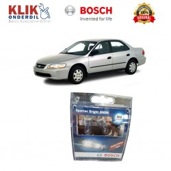 Bosch Sepasang Lampu Mobil Honda Accord 99 Low Beam Sportec Bright H4 12V 60/55W P43t (Putih) (2 Pcs/Set) - 1987304057