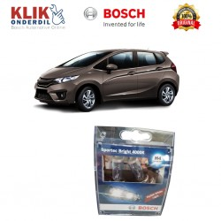 Bosch Sepasang Lampu Mobil Honda All New Jazz Low Beam Sportec Bright H4 12V 60/55W P43t (Putih) (2 Pcs/Set) - 1987304057