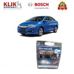 Bosch Sepasang Lampu Mobil Honda City Low Beam Sportec Bright H4 12V 60/55W P43t (Putih) (2 Pcs/Set) - 1987304057
