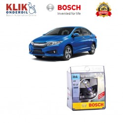 Bosch Sepasang Lampu Mobil Honda City Low Beam All Weather Plus H4 12V 60/55W P43t (2 Pcs/Set) - 1987304030