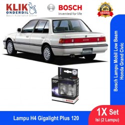 Bosch Lampu Mobil Honda Grand Civic Low Beam Plus 120 H4 12V 60/55W P43t (2 Pcs/Set) - 1987301106