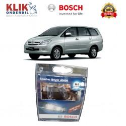 Bosch Sepasang Lampu Mobil Toyota Kijang Innova Low Beam Sportec Bright H4 12V 60/55W P43t (Putih) (2 Pcs/Set) - 1987304057