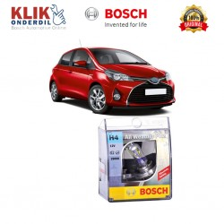 Bosch Sepasang Lampu Mobil Toyota Yaris Low Beam All Weather Plus H4 12V 60/55W P43t (2 Pcs/Set) - 1987304030