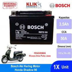 Jual Bosch Aki Kering Motor Honda Shadow 90 Maintenance Free AGM RBTZ-5S - 0092M67041