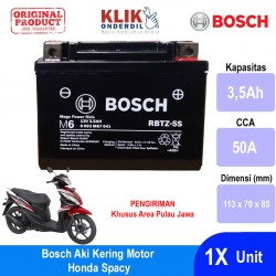 Jual Bosch Aki Kering Motor Honda Spacy Maintenance Free AGM RBTZ-5S - 0092M67041