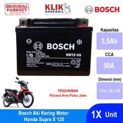 Jual Bosch Aki Kering Motor Honda Supra X 125 Maintenance Free AGM RBTZ-5S - 0092M67041