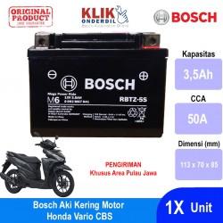 Jual Bosch Aki Kering Motor Honda Vario CBS Maintenance Free AGM RBTZ-5S - 0092M67041