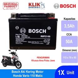 Jual Bosch Aki Kering Motor Honda Vario 110 Matic Maintenance Free AGM RBTZ-5S - 0092M67041