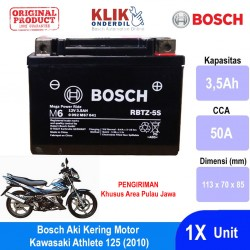 Jual Bosch Aki Kering Motor Kawasaki Athlete 125 (2010) Maintenance Free AGM RBTZ-5S - 0092M67041
