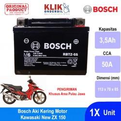 Jual Bosch Aki Kering Motor Kawasaki New ZX 150 Maintenance Free AGM RBTZ-5S - 0092M67041