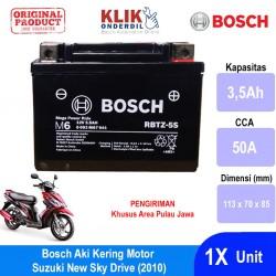 Jual Aki Kering Motor Suzuki New Sky Drive (2010) Maintenance Free AGM RBTZ-5S Bosch - 0092M67041