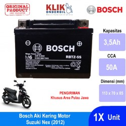 Jual Bosch Aki Kering Motor Suzuki Nex (2012) Maintenance Free AGM RBTZ-5S - 0092M67041