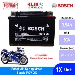 Jual Bosch Aki Motor Suzuki RGV 250 Maintenance Free AGM RBTZ-5S - 0092M67041