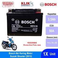 Jual Bosch Aki Kering Motor Suzuki Shooter (2013) Maintenance Free AGM RBTZ-5S - 0092M67041