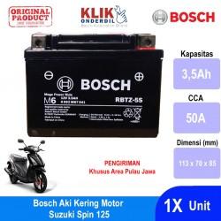 Jual Bosch Aki Kering Motor Suzuki Spin 125 Maintenance Free AGM RBTZ-5S - 0092M67041