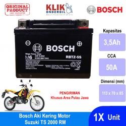 Jual Aki Kering Motor Suzuki TS 2000 RM Maintenance Free AGM RBTZ-5S Bosch - 0092M67041