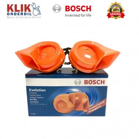 Jual Bosch Klakson Keong Mobil Motor Evolution 1 set Fanfare Horn Oranye - dg Harga Murah