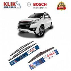 """Bosch Wiper Depan & Belakang Mobil Toyota Rush Set (Advantage 21"""" & 18"""") + H307 12"""" - 3 Buah - Jual dg Harga Murah"""