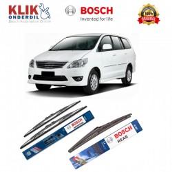 "Bosch Wiper Depan & Belakang Mobil Toyota Kijang Innova Set (Advantage 24"" & 16"") + H307 12"" - 3 Buah - Jual dg Harga Murah"