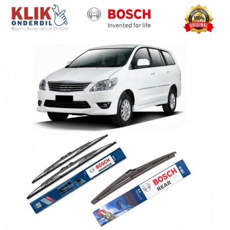 "Bosch Wiper Depan & Belakang Mobil Toyota Innova Set (Advantage 24"" & 14"") + H307 12"" - 3 Buah - Tahan Lama dg Harga Murah"