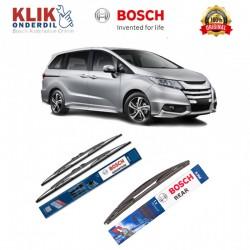 "Bosch Wiper Depan & Belakang Mobil Honda Odyssey New Set (Advantage 26"" & 17"") + H306 12"" - 3 Buah - Tahan Lama dg Harga Murah"