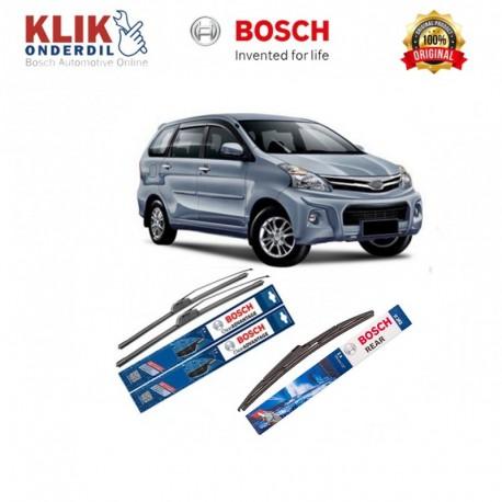 """Bosch Wiper Depan & Belakang Frameless New Clear Advantage Mobil Daihatsu Xenia 20"""" & 16"""" + H352 - 3 Buah/Set"""