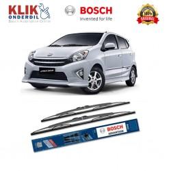 """Bosch Sepasang Wiper Kaca Mobil Toyota Vios Advantage 24"""" & 14"""" - 2 Buah/Set - Harga Wiper Murah Merk Terbaik"""