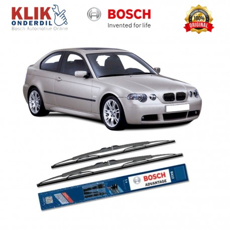 "Bosch Sepasang Wiper Kaca Mobil BMW 3 Coupe E 46 Advantage 22"" & 19"" - 2 Buah/Set - Harga Wiper Murah Merk Terbaik"