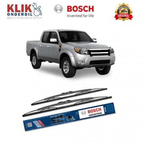 "Bosch Sepasang Wiper Kaca Mobil Ford Ranger (2011-on) Advantage 18"" & 18"" - 2 Buah/Set - Harga Wiper Murah Merk Terbaik"