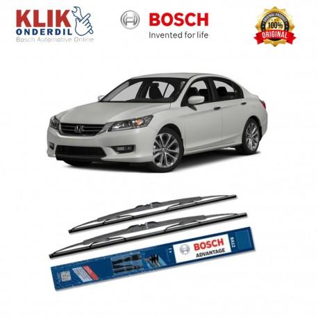 "Bosch Sepasang Wiper Kaca Mobil Honda Accord CM (2000-2006) Advantage 24"" & 19"" - 2 Buah/Set - Harga Wiper Murah Merk Terbaik"