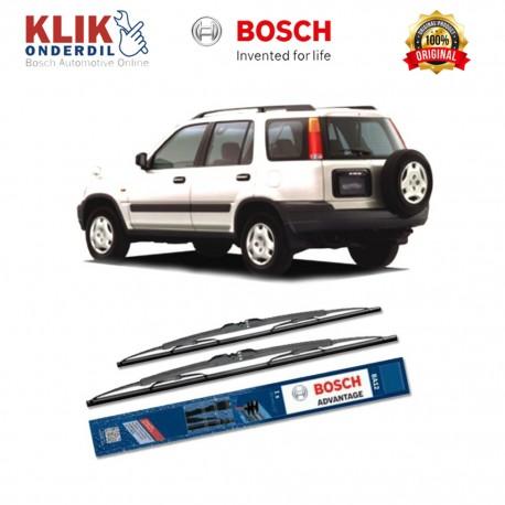 """Bosch Sepasang Wiper Kaca Mobil Honda Civic Sedan FA (2005-on) Advantage 24"""" & 19"""" - 2 Buah/Set - Harga Wiper Murah Merk Terbaik"""