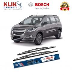 """Bosch Sepasang Wiper Kaca Mobil Chevrolet Spin Advantage 21"""" & 18"""" - 2 Buah/Set - Harga Wiper Murah Merk Terbaik"""