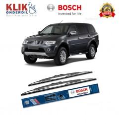 """Bosch Sepasang Wiper Kaca Mobil Mitsubishi Pajero Sport 2008 Advantage 21"""" & 18"""" - 2 Buah/Set - Harga Wiper Murah Merk Terbaik"""