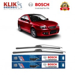 "Bosch Sepasang Wiper Frameless New Clear Advantage Mobil Proton Gen 2 21"" & 19"" - 2 Pcs/Set"